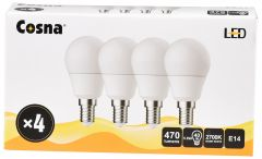 COSNA LED 5,6W E14 G45 4-PACK