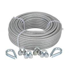 STÅLWIRESET 4-6 25 M GALV PVC