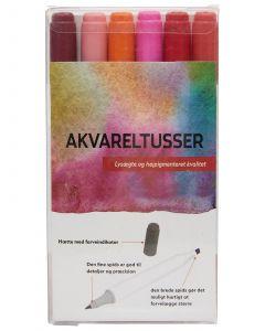 MARKERS AKVARELL RÖDA FÄRGER