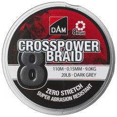 CROSSPOWER BRAID 8 0,15 MM GRÅ