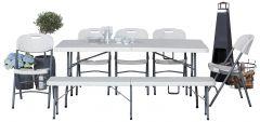 Bord bänk och stol set