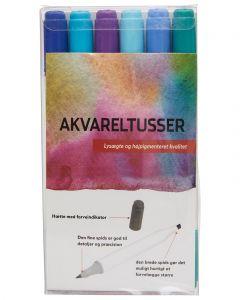 MARKERS AKVARELL BLÅ FÄRGER