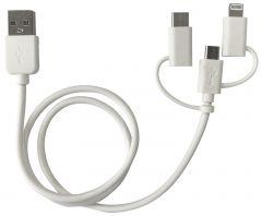 USB LADDKABEL 3-I-1 0,5 M
