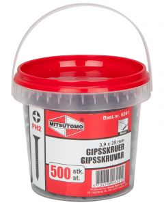GIPSSKRUV METALL 3,9X35 MM 500
