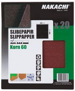 SLIPPAPPER 20 ST K60 GROV