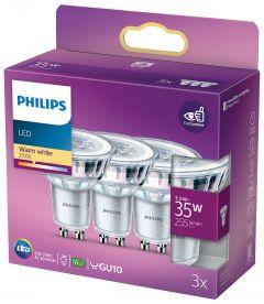 PHILIPS LED 3,5W GU10 3 ST